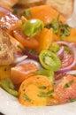Ensalada del tomate Imagen de archivo libre de regalías