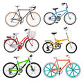 Ensemble d ic nes de symbole de bicyclette Photos stock