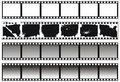 Ensemble de filmstrips noirs et blancs Photo libre de droits
