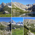 Ensemble de photos des montagnes de tatra zakopane pologne Photos stock