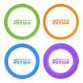 Ensemble de taches grunges colorées de cercle d aquarelle Photos stock