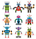 Ensemble de vecteur de robots Image stock