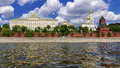 Ensemble of moscow kremlin view from the kremlin embankment rus russia Stock Image