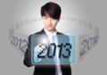 Enter 2013 new year Stock Image