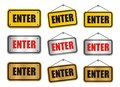 Enter signs suitable for user interface Royalty Free Stock Photography