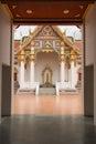 Enter to buddhist thai temple at thailand Stock Photos