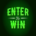 Enter to Win Vector Sign Royalty Free Stock Photo