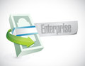 Enterprise business cash sign illustration design over white Stock Photography