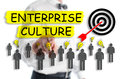 Enterprise culture concept shown by a man