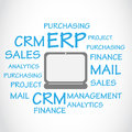 Enterprise resource planning erp background concept abstract Stock Photography
