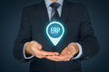 Enterprise resource planning ERP Royalty Free Stock Photo