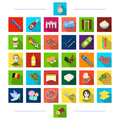 Entertainment, animal and other web icon in flat style.business, textiles, medicine, icons in set collection.