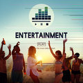 Entertainment delight please performance act concept Royalty Free Stock Image