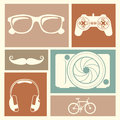 Entertainment icons over colorful background vector illustration Royalty Free Stock Image