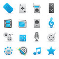 Entertainment Icons Set | Indigo Serie 01 Royalty Free Stock Image