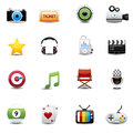Entertainment and movie icons set this image is a vector illustration Stock Image