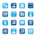 Entertainment objects icons Stock Photography