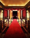 Entertainment theater with red carpet entrance to Stock Photos