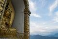Enthroned Buddha Statue at Shanti Stupa in Pokhara
