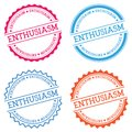 ENTHUSIASM badge isolated on white background. Royalty Free Stock Photo