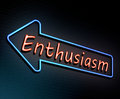 Enthusiasm neon concept. Royalty Free Stock Photo