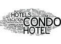 Enthusiasm Spreads For Condo Hotels Word Cloud Concept Royalty Free Stock Photo