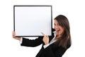 Enthusiastic businesswoman Royalty Free Stock Photo