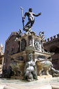 Entire view of fountain of neptune Stock Photo