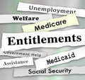 Entitlements Government Programs Medicare Medicaid Welfare News Royalty Free Stock Photo