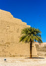 At the entrace of the medinet habu temple egypt Stock Photo