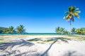Entrada a una de las playas tropicales más hermosas del caribe playa rincon Imagen de archivo libre de regalías