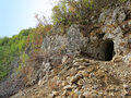 Entrance of an ancient mine of antimony in West Serbia Royalty Free Stock Photo
