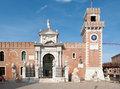 Entrance of the Arsenale. Royalty Free Stock Photography