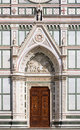 Entrance of Basilica of Santa Croce, Florence Royalty Free Stock Photo