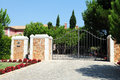 Entrance Gate from a Luxurious Property Royalty Free Stock Photo