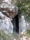 Entrance of a cave Royalty Free Stock Photo