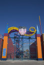 Entrance at coney island luna park in brooklyn new york march on march was destroyed by fire Stock Photos