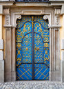 Entrance door to University building, Wroclaw, Royalty Free Stock Photos