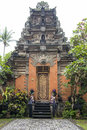 Entrance door Ubud Palace, Bali Royalty Free Stock Photo
