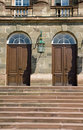Entrance doors to an old castle Royalty Free Stock Photo