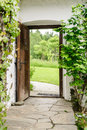 Entrance of a farm house in upper austria Stock Image