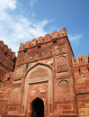 Entrance Gate in Agra fort Stock Photo