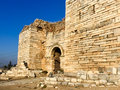 Entrance Gate of Ayasoluk Castle in Selcuk near Ephesus in turkey Royalty Free Stock Photo