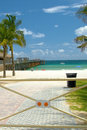 Entrance gate of a beach at the miami miami dade county florida usa Royalty Free Stock Photo
