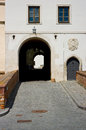 The entrance gate of the castle spilberk in brno south moravia czech republic Royalty Free Stock Photo