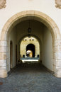 The entrance gate of the castle spilberk in brno south moravia czech republic Royalty Free Stock Photos