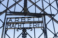 Entrance gate at dachau concentration camp Royalty Free Stock Photos