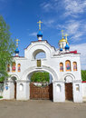 Entrance gate to the church panteleimon russia orel region village pleshcheyevo horizontal photo Stock Photography