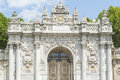 Entrance gate to Dolmabahce Palace Istanbul Royalty Free Stock Photo