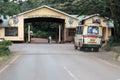 Entrance gate to Ngorongoro Conservation Area Crater Tanzania